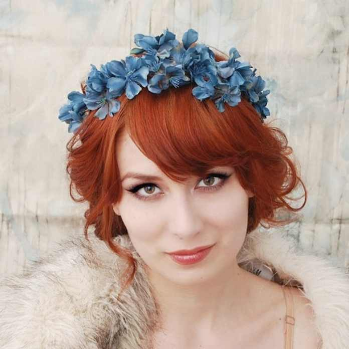 The-Orange-Hued-Bangs-with-Messy-Curly-Bun Most Beautiful Wedding Hairstyles with Bangs