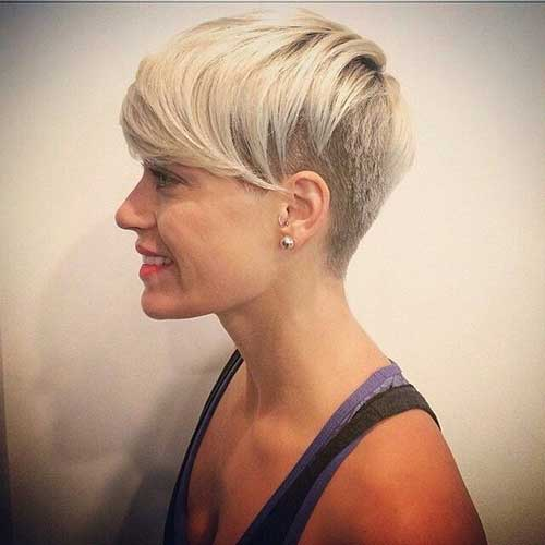 Trendy-Short-Hair-with-Shaved-Side Short Trendy Hairstyles 2020