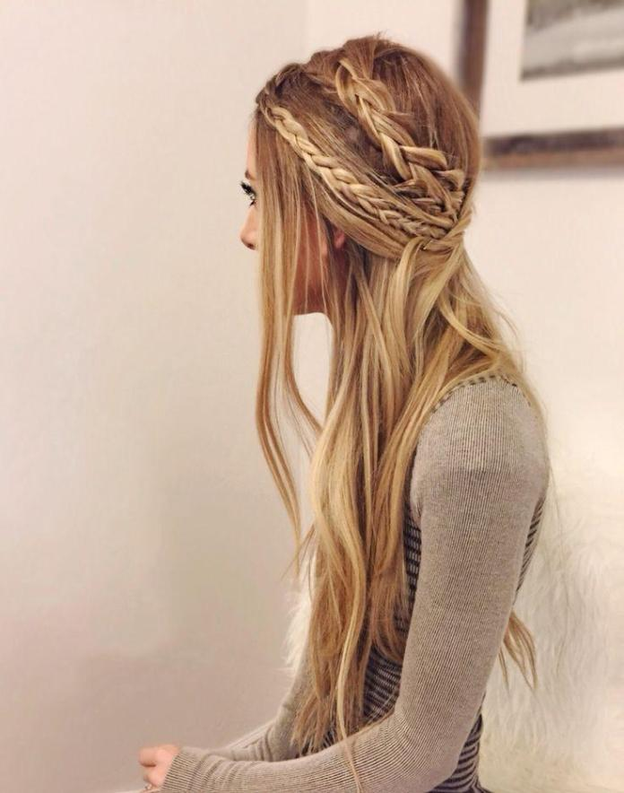Twin-Side-Braids Hippie Hairstyles for a Stylish and Reviving Look