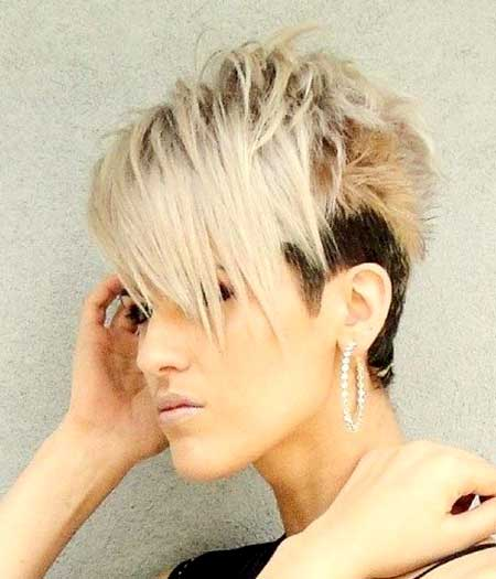 Undercut-Hairdo-with-Blonde-Colored-Spikes Short Hair Colors Ideas 2020