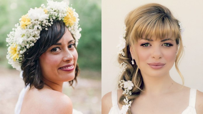 Wedding-Hairstyles-with-Bangs Most Beautiful Wedding Hairstyles with Bangs