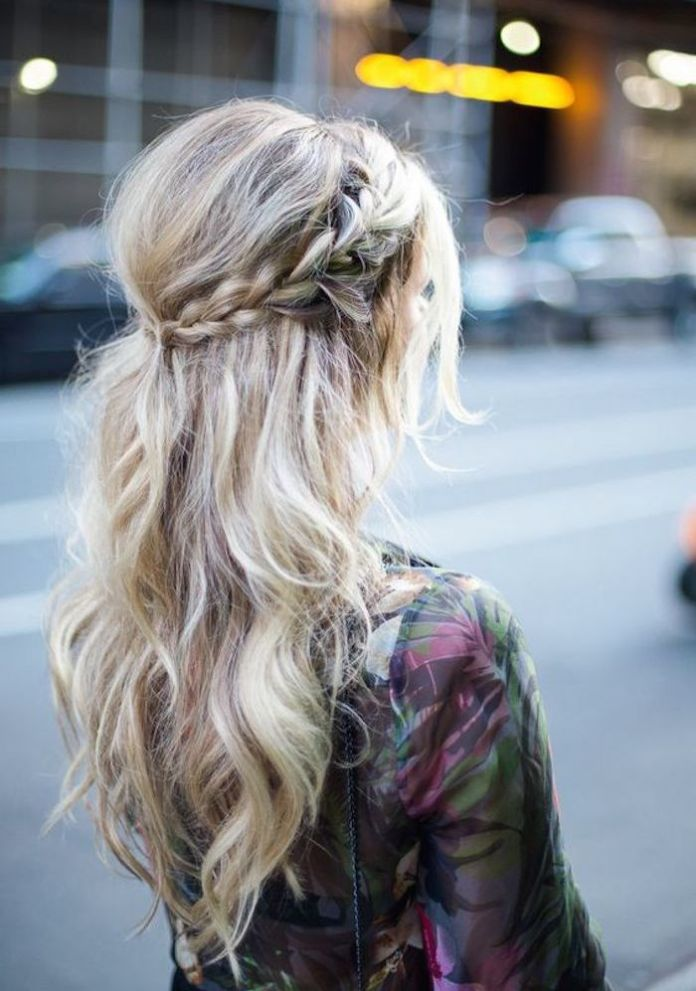 BRAIDED-HALF-UP-HALF-DOWN-HAIRSTYLES Best Trendy Half-up, Half-Down Hairstyles you must try.