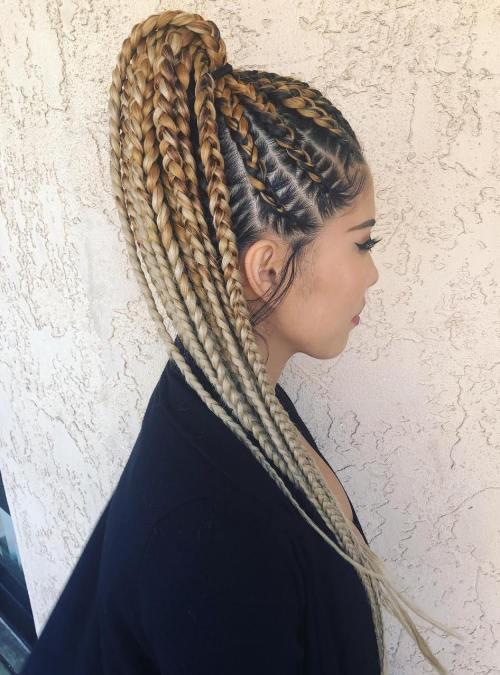 Beautiful-Cornrow-Ponytail 10 Stunning Cornrow Hairstyles to Inspire Your Next Look