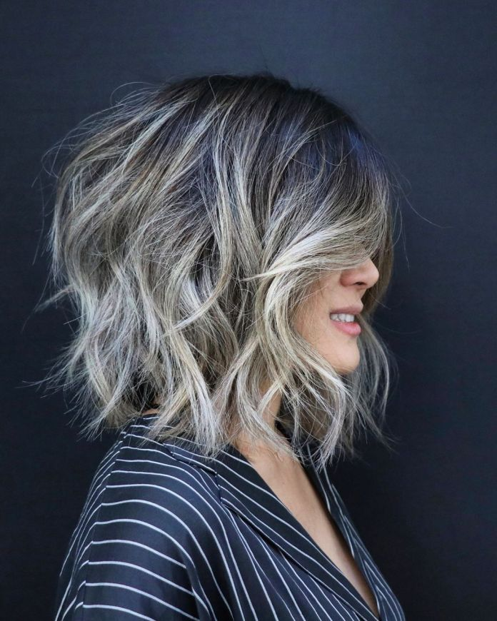 Bob-in-a-Shag-Cut Most Trendy and Terrific Medium Hairstyles 2020