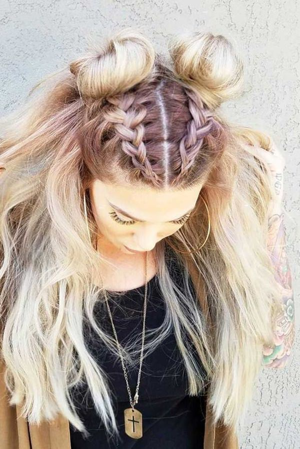 Braided-Bantu-Knots-Hairstyle- Glamorous Dutch Braid Hairstyles to Try Now
