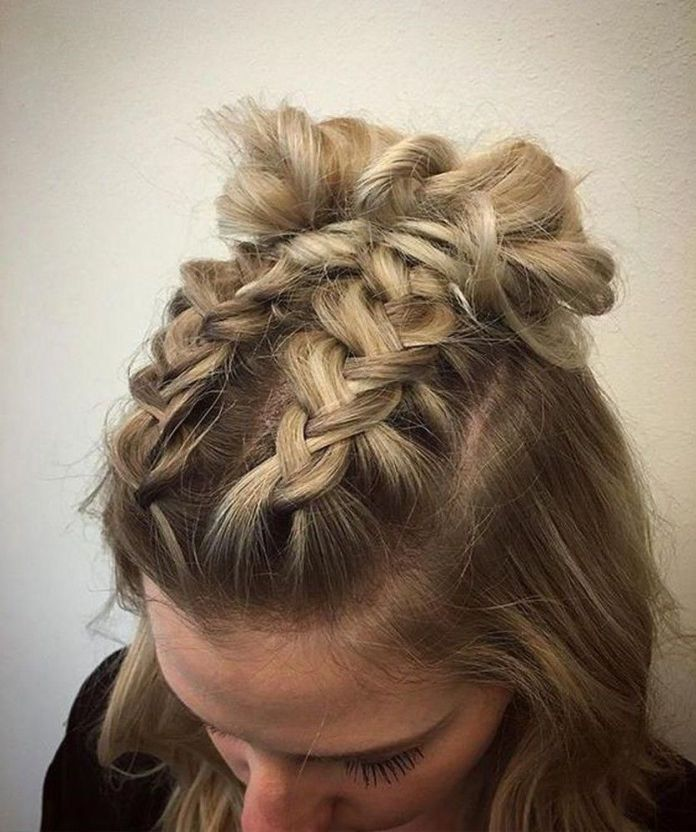 Braided-Knots-Hairstyle Glamorous Dutch Braid Hairstyles to Try Now