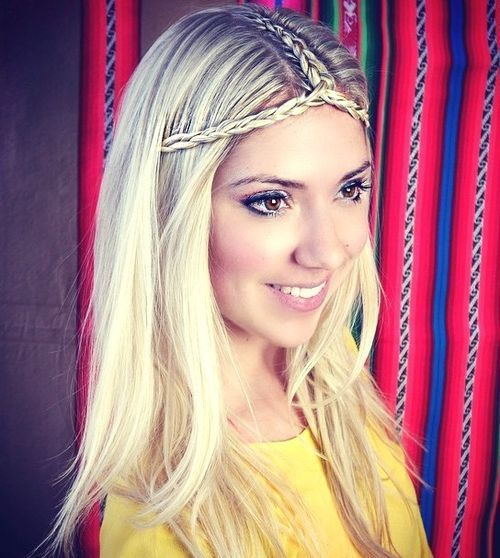 Braided-Parting-and-Headband 14 gorgeous Hairstyles and Haircuts for Long Straight Hair