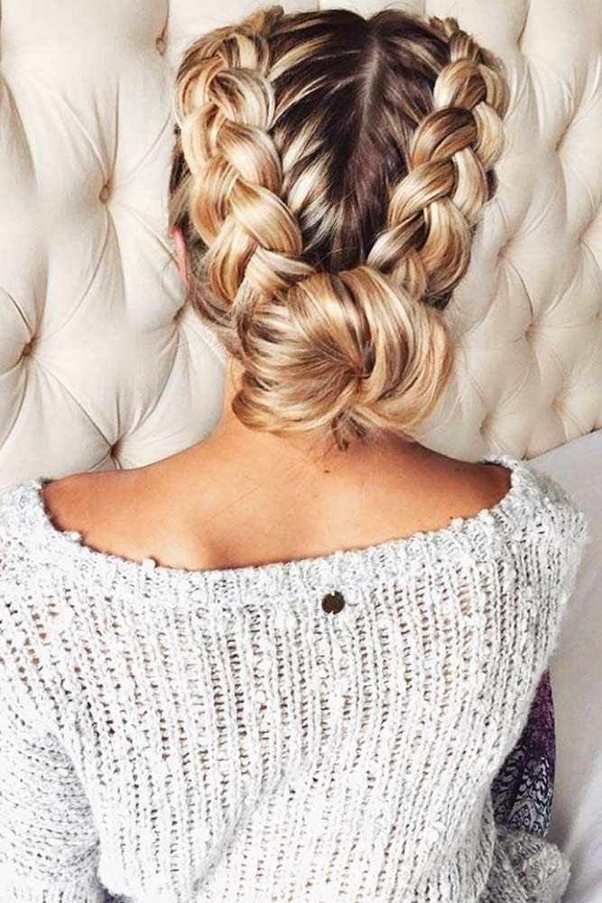 Bun-Braid-Hairstyle Glamorous Dutch Braid Hairstyles to Try Now