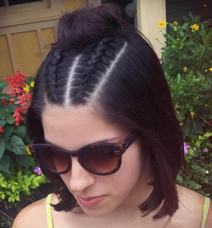 Bun-with-Braids Quick and Easy Short Hair Buns to Try