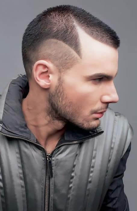 Buzz-Cut-with-Shaved-Design 20 Popular Haircuts For Men in 2020