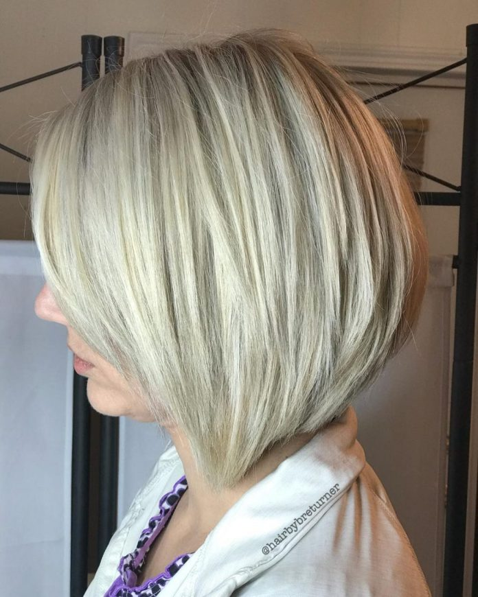 Chic-medium-length-bob 15 winning-looks short hairstyles for Women Over 40