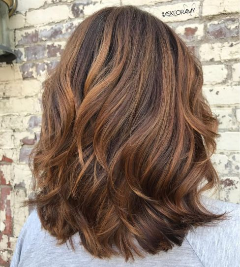 Cinnamon-Layers-Mediumharistyles-for-Thick-Hair 15 Graceful Medium Length Haircuts for Thick Hair