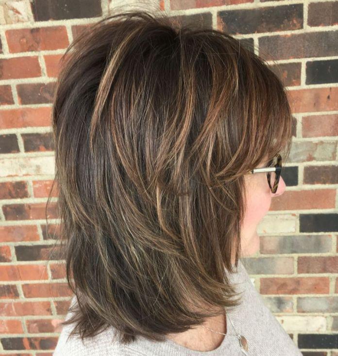 Classic-Medium-Length-Shag-Haircut Shaggy Hairstyles for Women with Fine Hair over 50