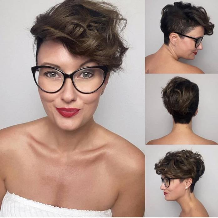 Colored-Curled-Pixie Undoubtedly Coolest Pixie Cuts for Wavy Hair