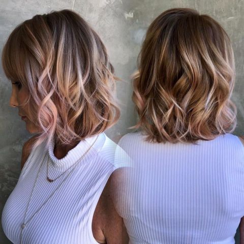 Curly-Bob-with-Blonde-Highlights 15 winning-looks short hairstyles for Women Over 40