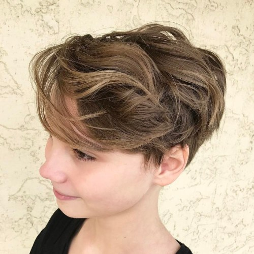 Curly-Pixie-with-Bangs 14 Cute Haircuts for Teenager Girls to Put You on Center Stage