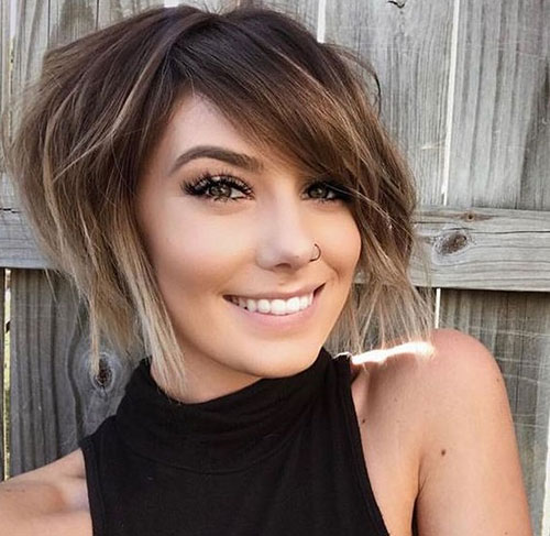 Cute-Short-Layered-Bob 14 stunning Short Haircuts and Hairstyles for Fine Hair