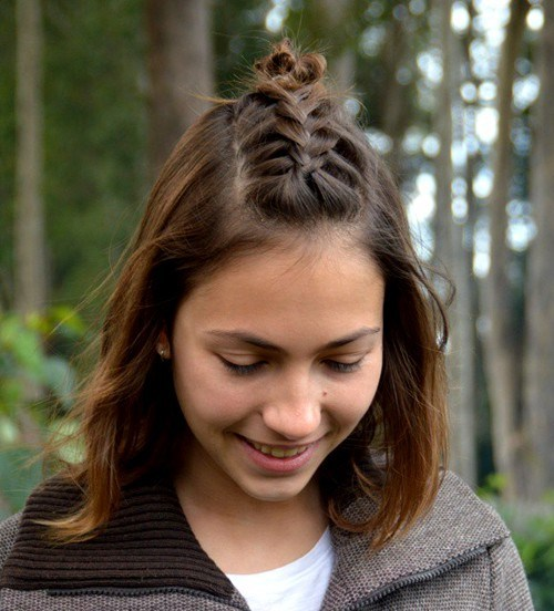 Fauxhawk-Braid-for-Medium-Hair 14 Cute Haircuts for Teenager Girls to Put You on Center Stage