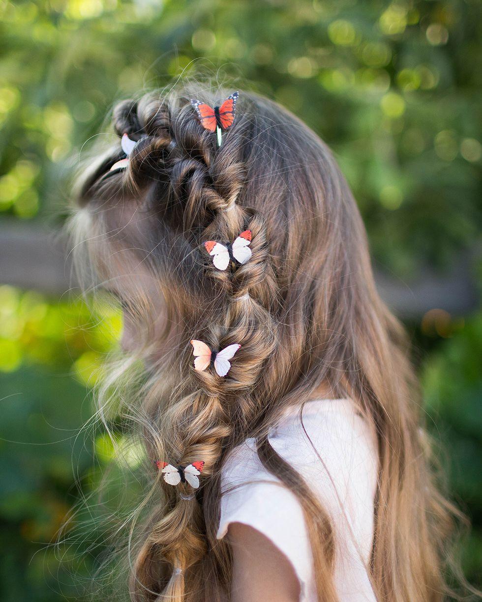 Flip-Faux-Fishtail 10 super cute braid hairstyles for kids