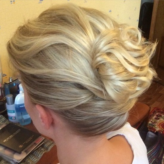 Gathered-Loose-Bun Quick and Easy Short Hair Buns to Try