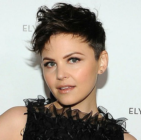 Ginnifer-Goodwin's-Lovely-Messy-Pixie-Cut Celebrity Short Hairstyles for Women