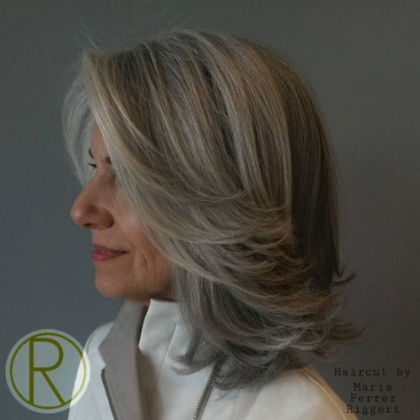 Gray-Bob-with-Swoopy-Layers 14 Stylish Gray Hair Styles for older women