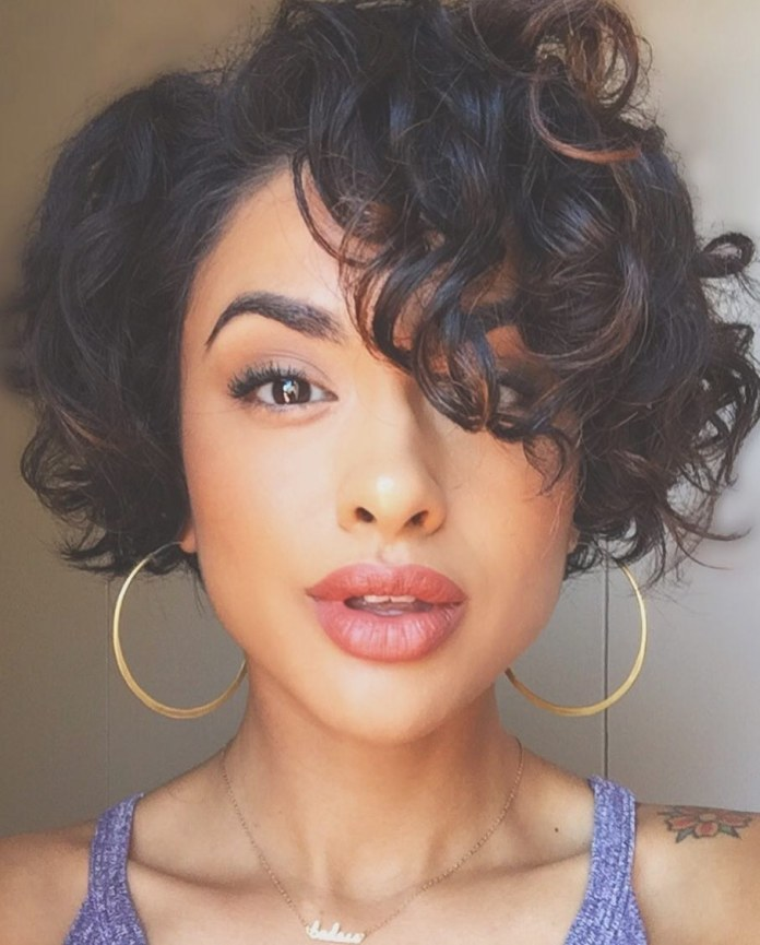 Ladylike-Undercut-Pixie-for-Curly-Hair Undoubtedly Coolest Pixie Cuts for Wavy Hair