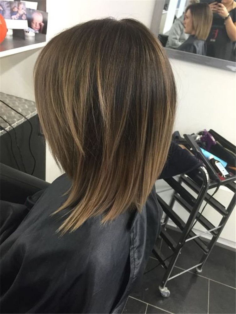 Layered-Cut-on-Mid-Length-Hair Most Trendy and Terrific Medium Hairstyles 2020