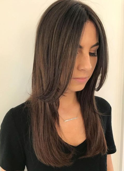 Long-Cut-with-Chin-Length-Layers 15 Picture-Perfect Hairstyles for Long Thin Hair