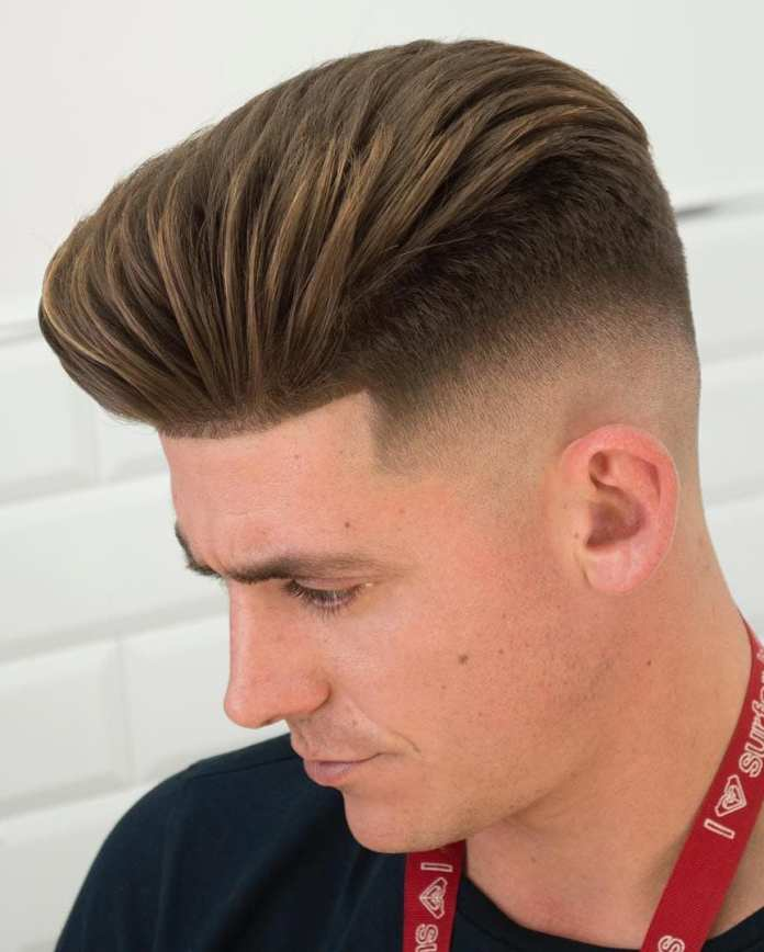 Long-Pompadour-with-Faded-Undercut Most Stylish Hairstyles with Disconnected Undercut