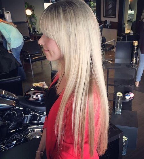 Long-and-Sleek-Blonde-Hair 14 Cute Haircuts for Teenager Girls to Put You on Center Stage