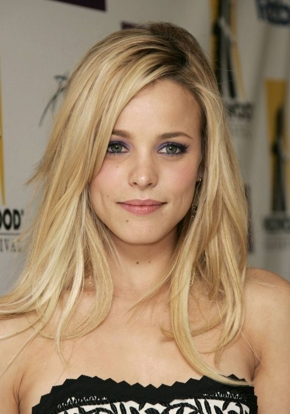 Medium-Long-Layered-Blonde-Hair Most Trendy and Terrific Medium Hairstyles 2020