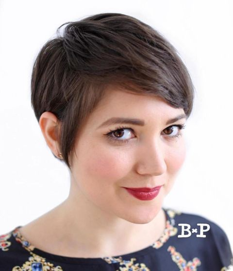Neat-Pixie-for-Gamine-Girls 14 ideas of short haircuts for round faces