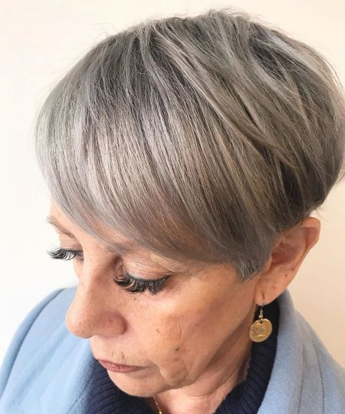 Neat-Tapered-Gray-Pixie 12 best pixie hairstyles for women over 50