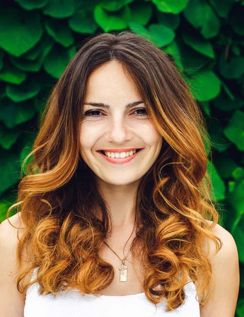 Ombre-Layers-On-Low-Curls Top 10 Glamorous layered curly hairstyles
