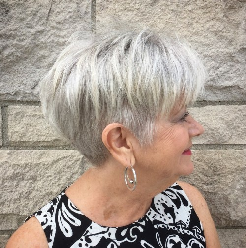 Piece-y-Short-Gray-Style-with-Undercut 12 best pixie hairstyles for women over 50