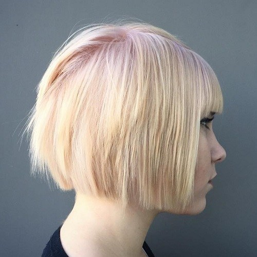 Platinum-and-Pink 14 fabulous straight bobs hairstyles you might want to copy