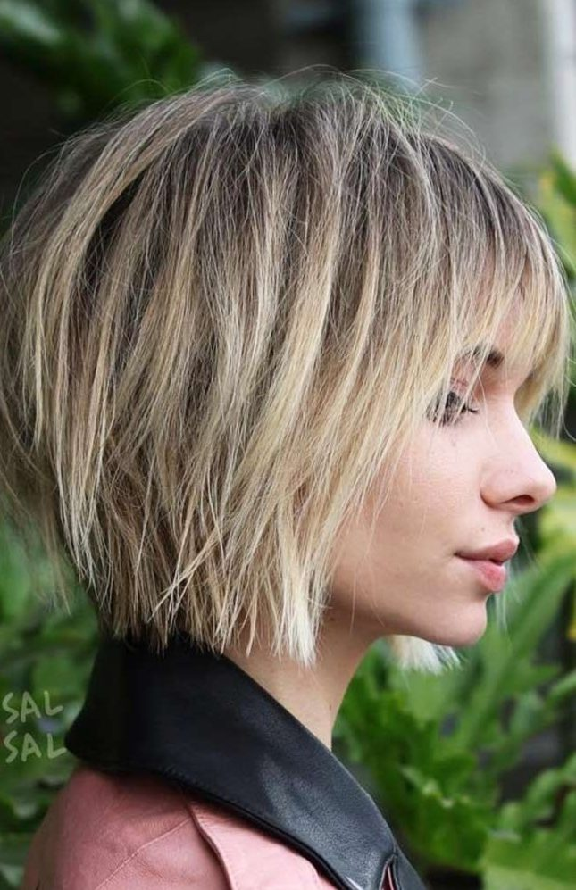 Razored-Bangs Must Try Bob Hairstyles 2020 for Trendy Look