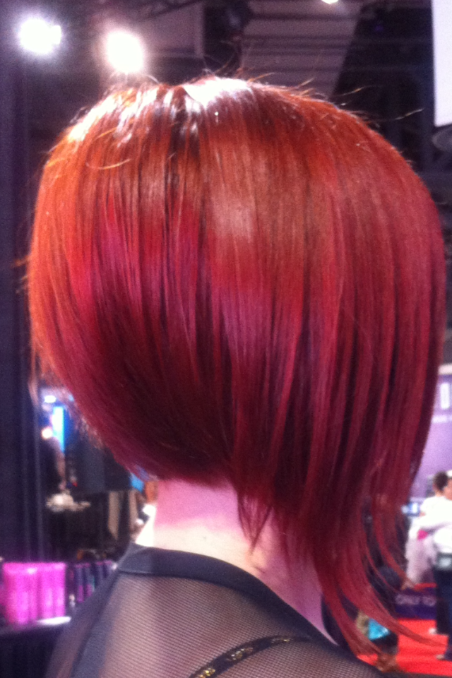 Red-Colored-A-Line-Bob 20 of the Most Hottest A-Line Bob Hairstyles
