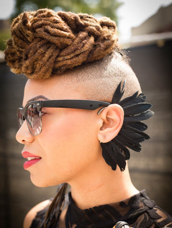 Roped-Cornrow-Strands-with-Bald-Surroundings Awesome Long Hairstyles for Black Girls