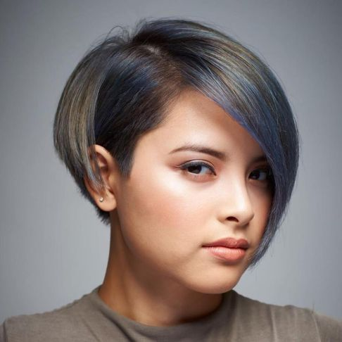 Short-Bob-with-Highlights 14 ideas of short haircuts for round faces