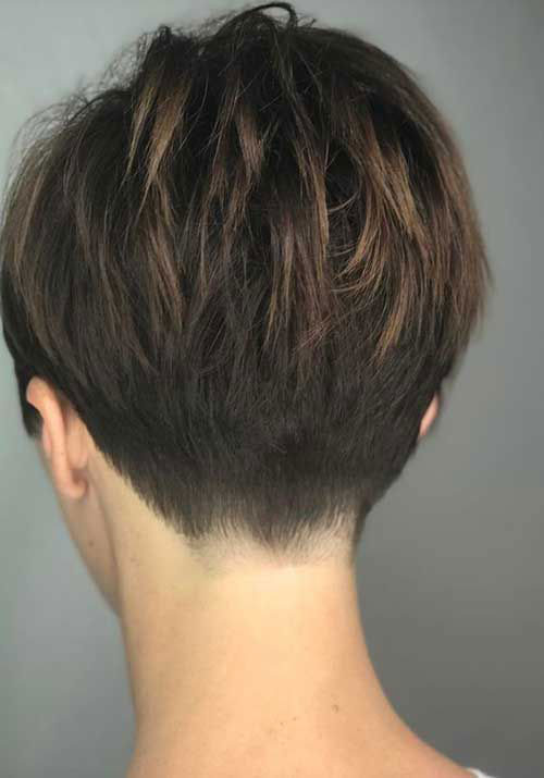 Short-Hair-From-Back 14 stunning Short Haircuts and Hairstyles for Fine Hair