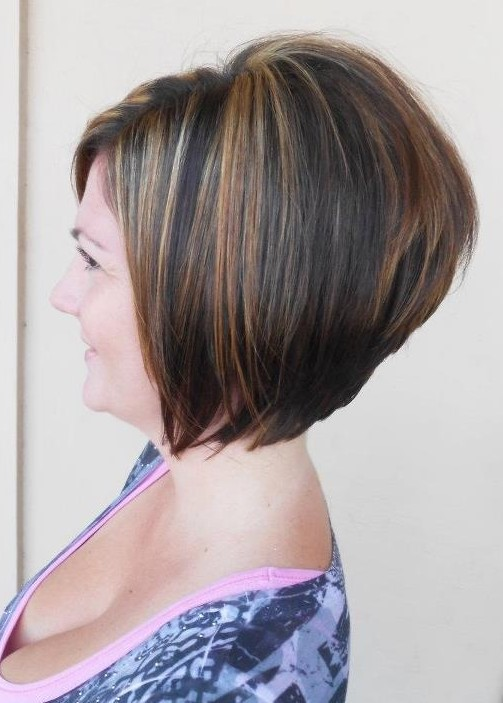 Short-Stacked-A-Line-Bob 20 of the Most Hottest A-Line Bob Hairstyles