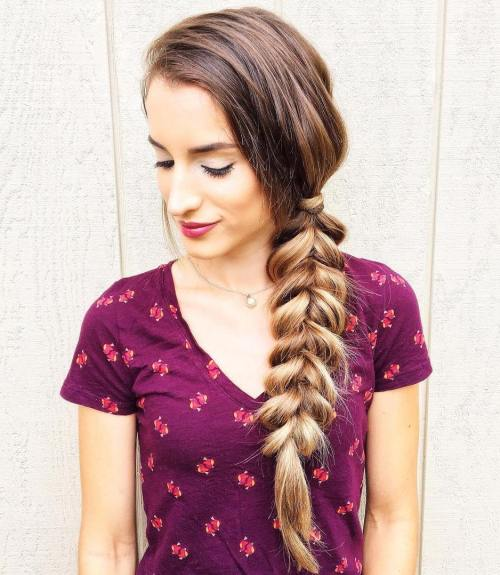 Side-Braid-for-Long-Hair 14 gorgeous Hairstyles and Haircuts for Long Straight Hair