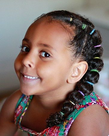Side-Braided-Ponytail 10 super cute braid hairstyles for kids