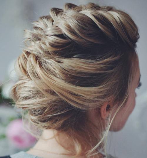 Soft-Braided-Updo-for-Prom 15 eye-catching Prom Hairstyles for Short Hair