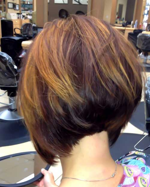 Stacked-A-Line-Bob-with-Highlights 20 of the Most Hottest A-Line Bob Hairstyles
