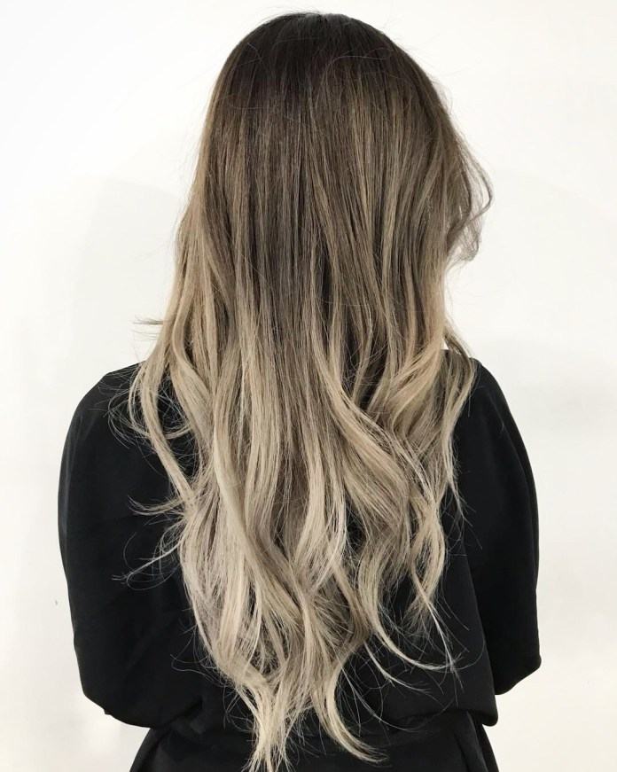 Step-Cut-Ombre-Hairstyle Trendy and Stunning Long Hairstyles 2020