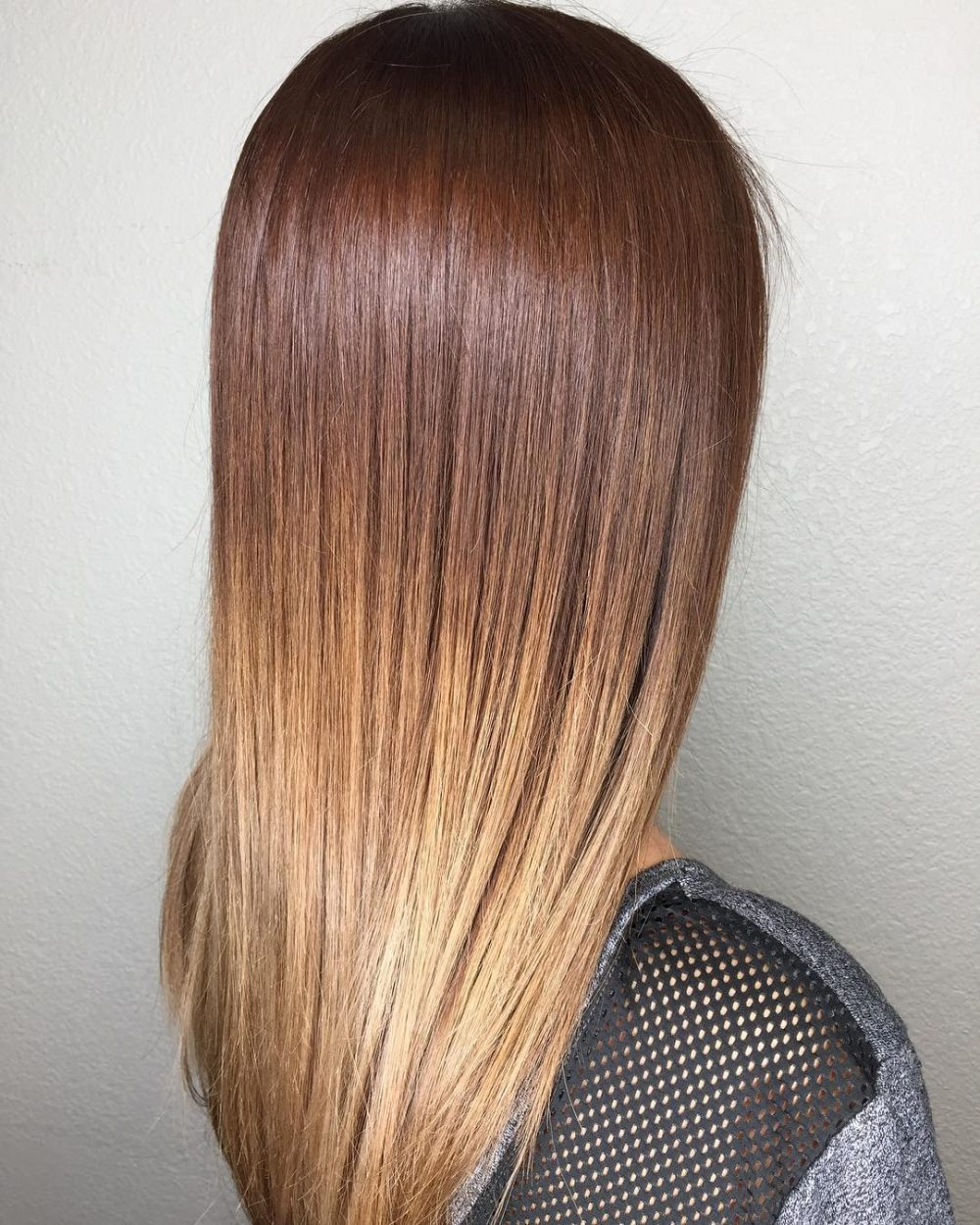 Straight-Shaded-Hairstyle Trendy and Stunning Long Hairstyles 2020