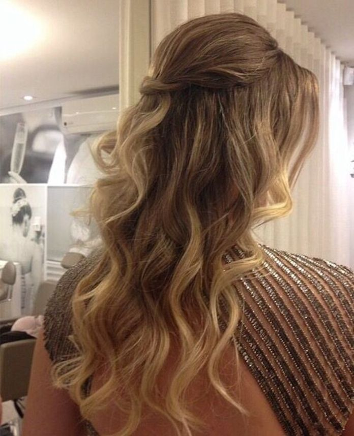 TWISTED-HALF-UP-HAIRSTYLES Best Trendy Half-up, Half-Down Hairstyles you must try.